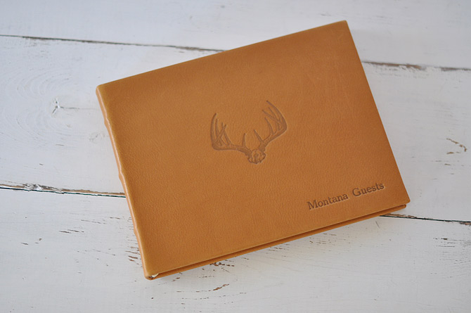 Antlers for vacation home guest books
