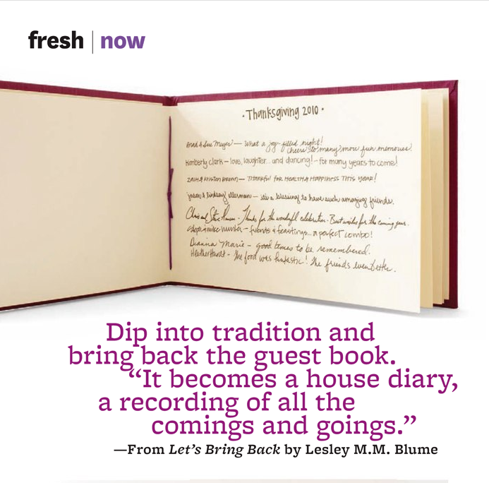 House Diary - Guest Book