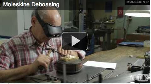 Moleskin debossing
