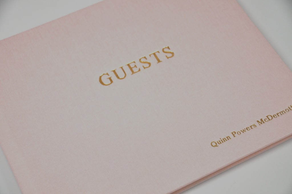 Pink Linen - shown on Guest Sign In Book