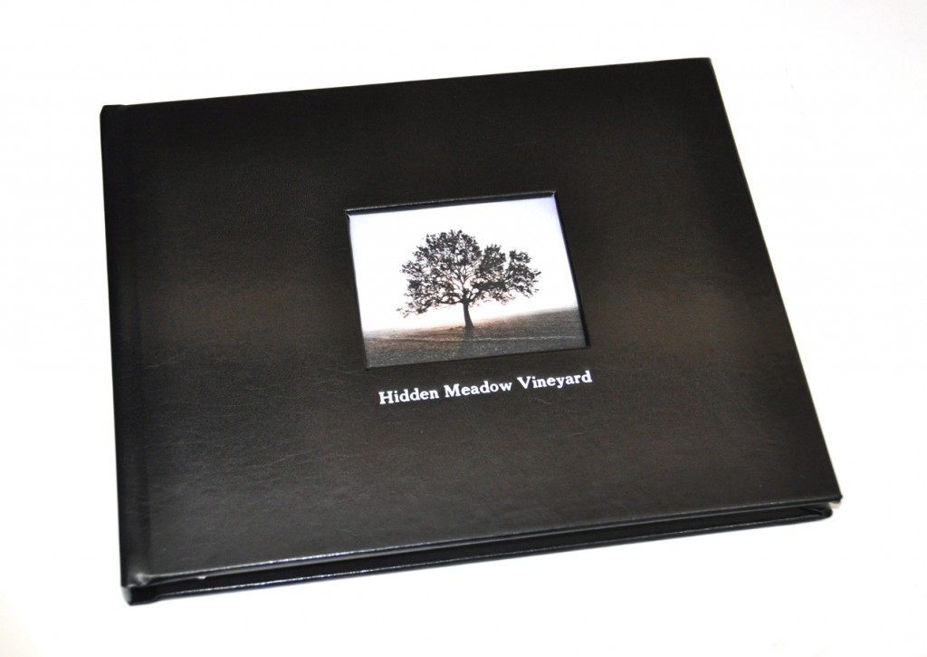 Black Leather - shown on Guest Book with Photo Frame