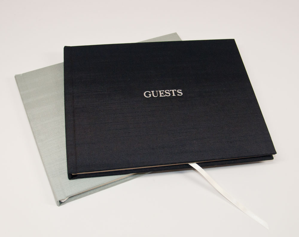 Onyx Satin - Shown on Guest Sign In Book