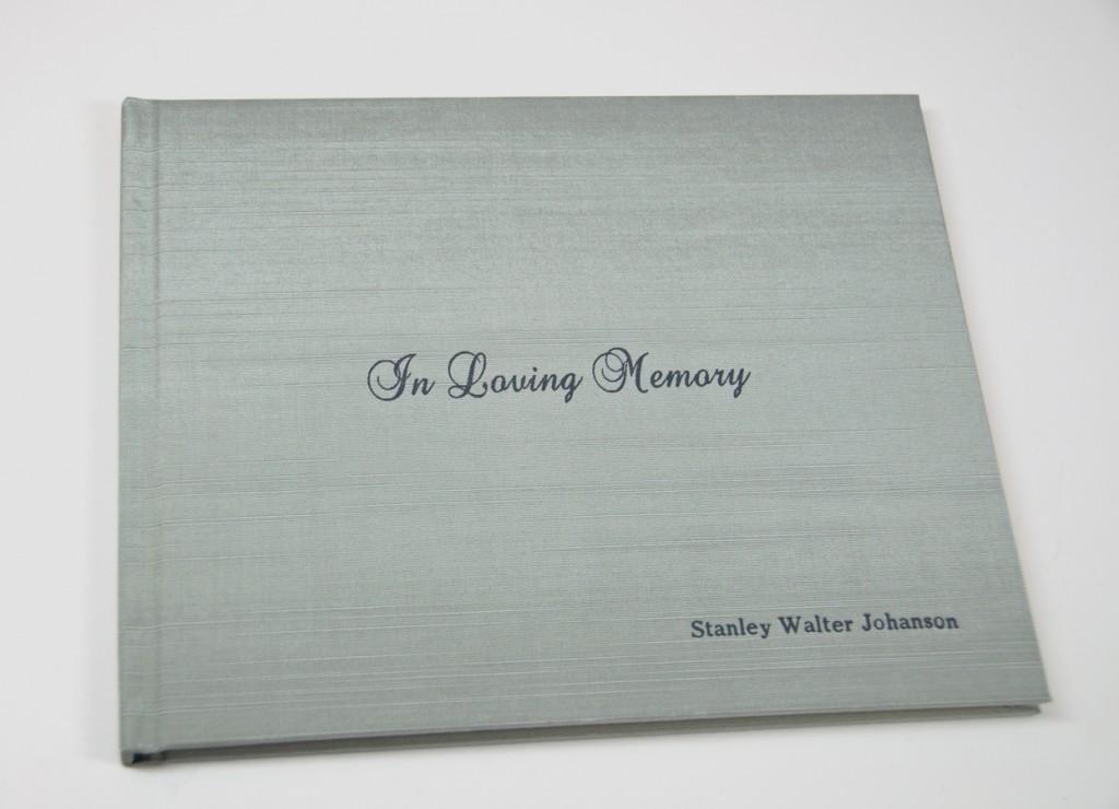 Sea Satin - Luminosity slightly shown - Shown on In Loving Memory Memorial Sign In Book
