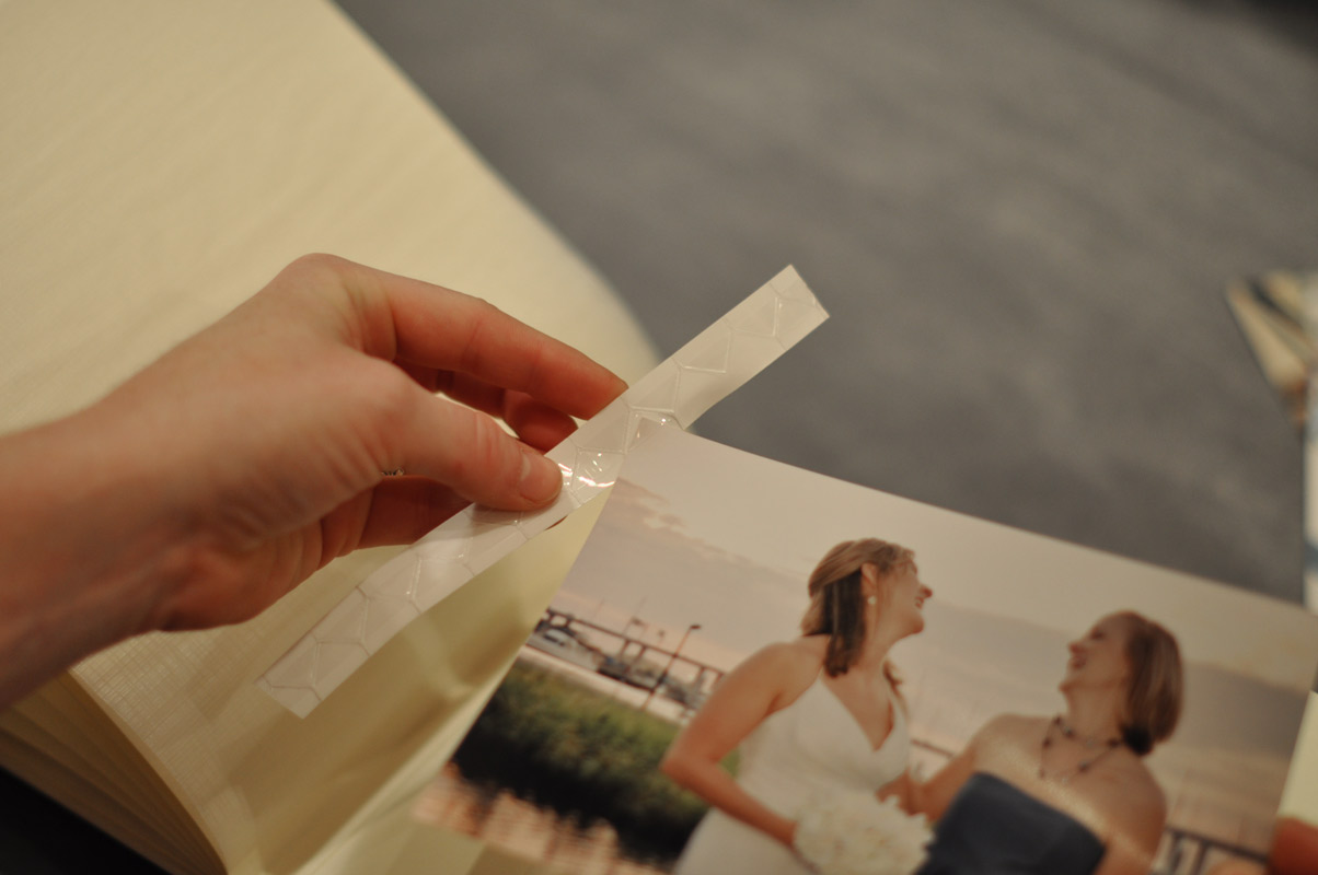 how to add photos to paper page albums