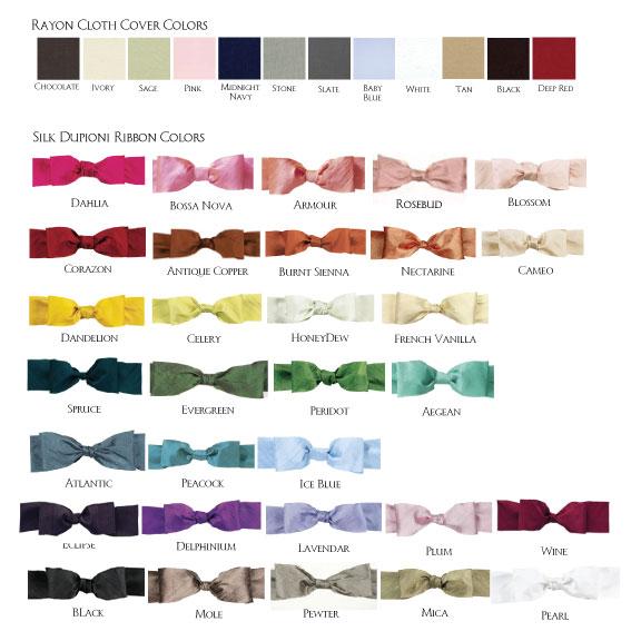 Silk Dupioni Bow Colors