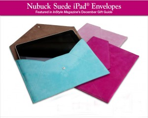 Leather & Suede iPad Envelopes