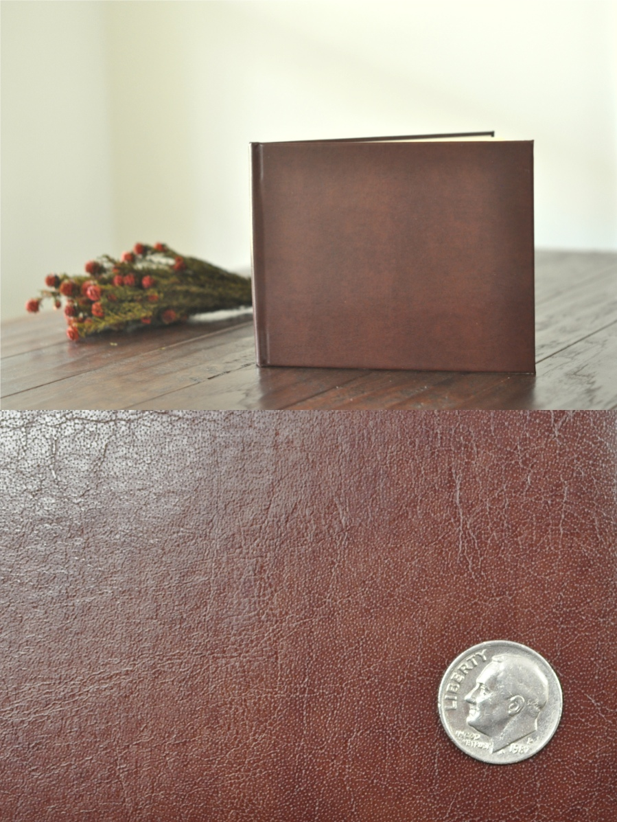 leather book and close