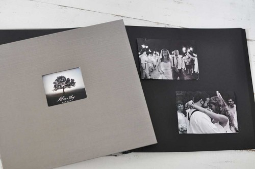 12 x 12 Black Page Photo Albums with optional photo frame on cover