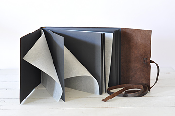 The Leather Rustic Photo Album with Black Pages