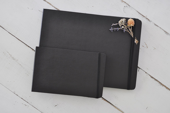 Pocket and Large Moleskine Black Page Albums by Blue Sky Papers