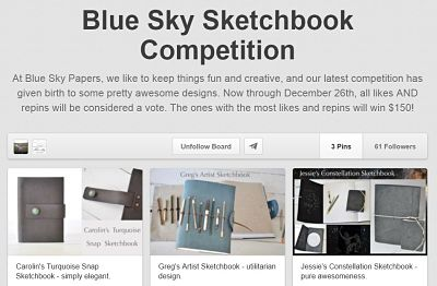 Blue Sky Papers Pinterest Contest - Sketchbook Design