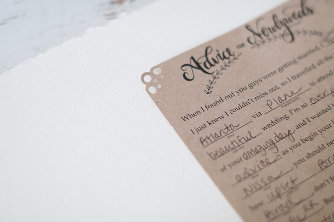 put your wedding mad libs in a keepsake guestbook