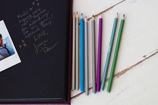 Metallic Colored Pencils for crafts with black pages