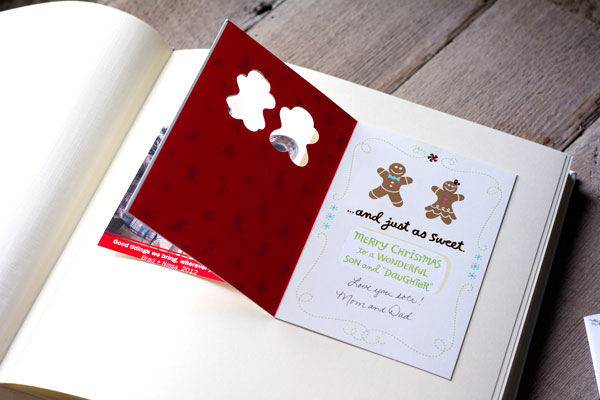 DIY Christmas Card Book The Blue Sky Papers Blog