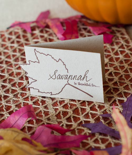 Horizontal Place Card - Thanksgiving Printable