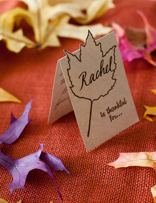 Vertical Thanksgiving Place Card - Free Printable for Fall