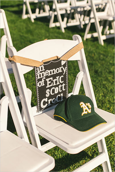 Tribute Seat At Wedding Ceremony