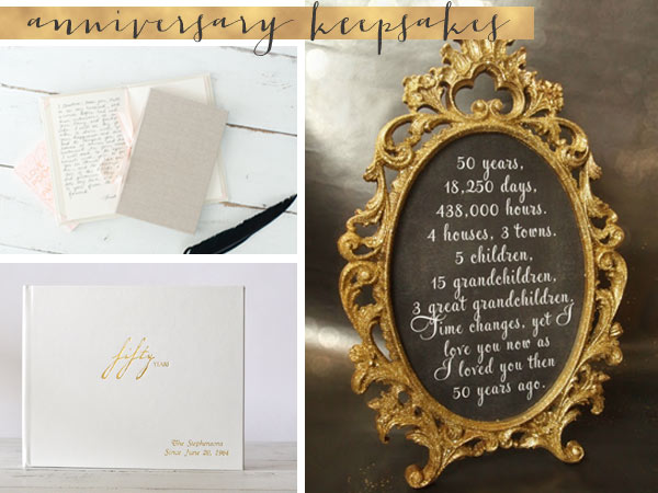 50th Wedding Anniversary Gifts And Keepsakes