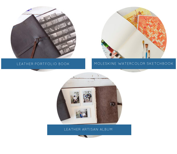 Meaningful Gifts for College Students & Young Professionals - personalized sketchbooks and portfolios