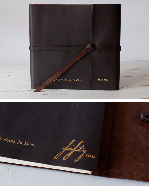 50th Wedding Anniversary Photo Album Gift | Handmade by Blue Sky Papers