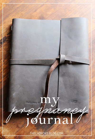 The Lady Okie's Pregnancy Journal with the Leather Rustic Portfolio by Blue Sky Papers