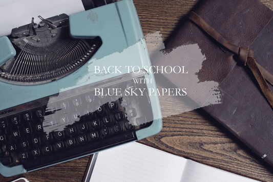 Back to School Supplies with Blue Sky Papers