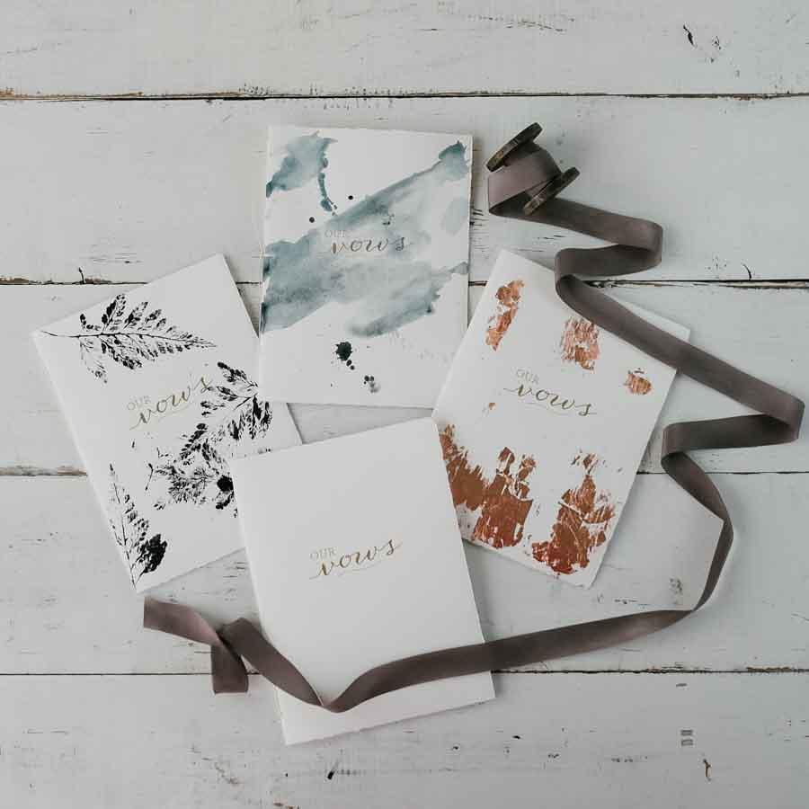 wedding ceremony booklet vow book diy the blue sky papers blog