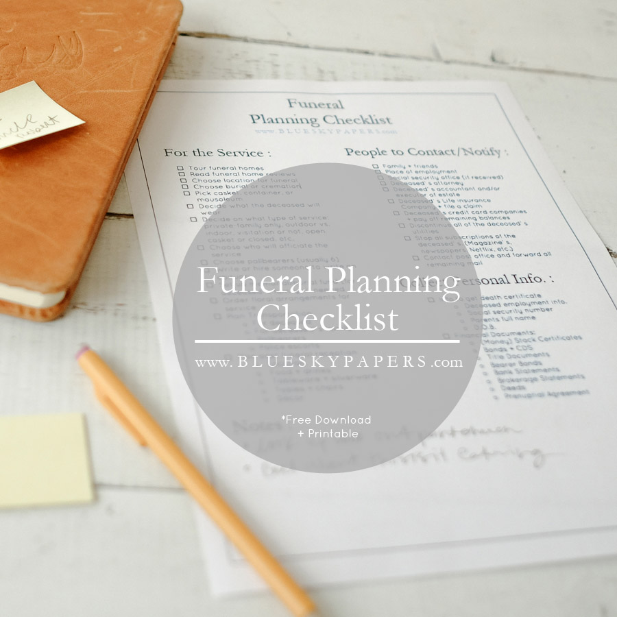 how to plan a funeral funeral planning checklist free download the