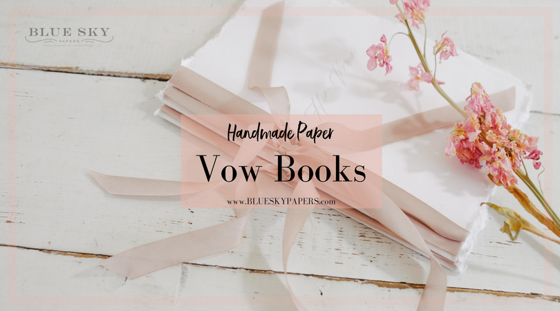 Handmade-Paper-Vow-Book_Blue-Sky-Papers