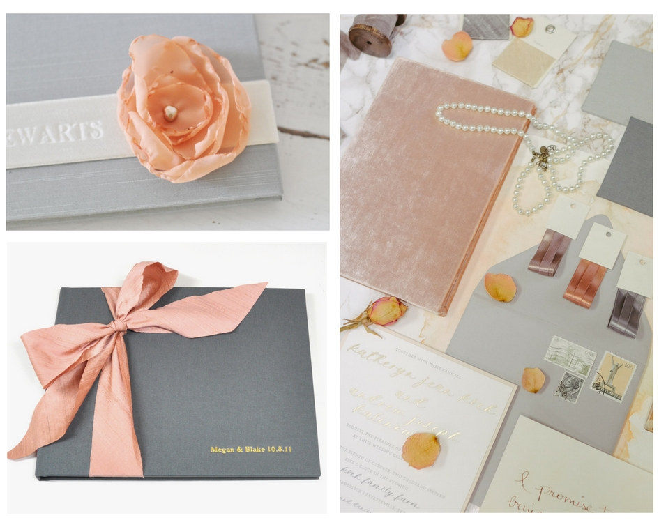 Peach Wedding Colors Blue Sky Papers