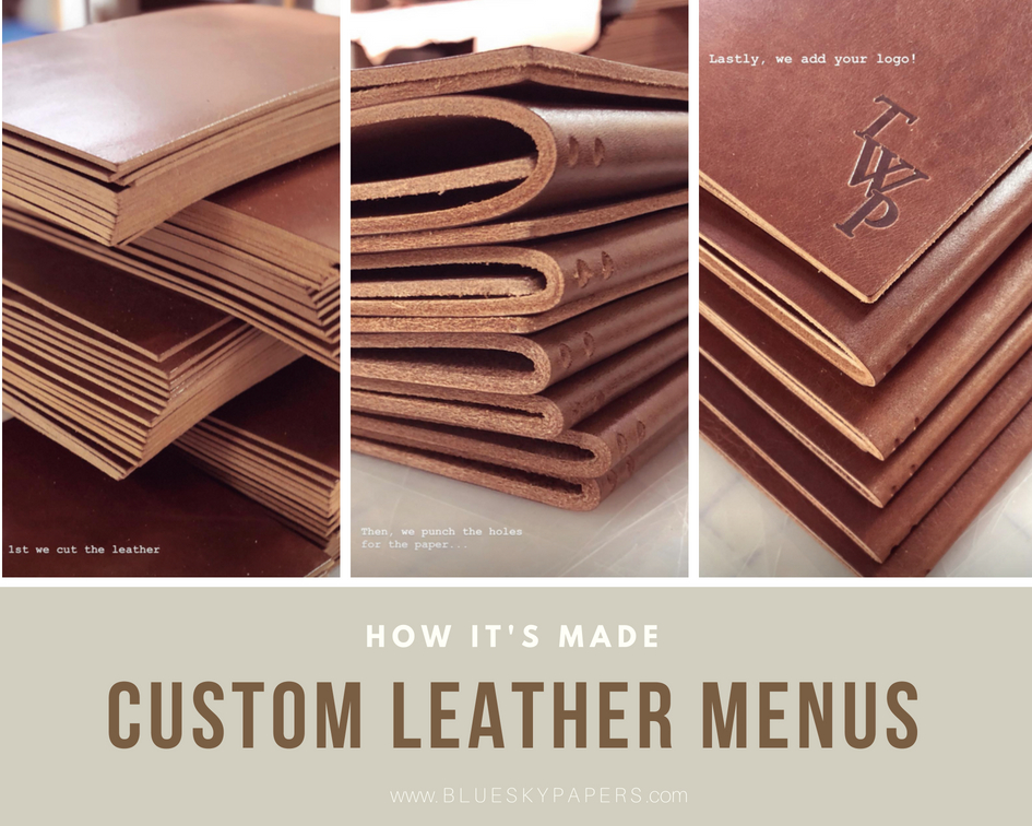 custom-leather-menus_blue-sky-papers