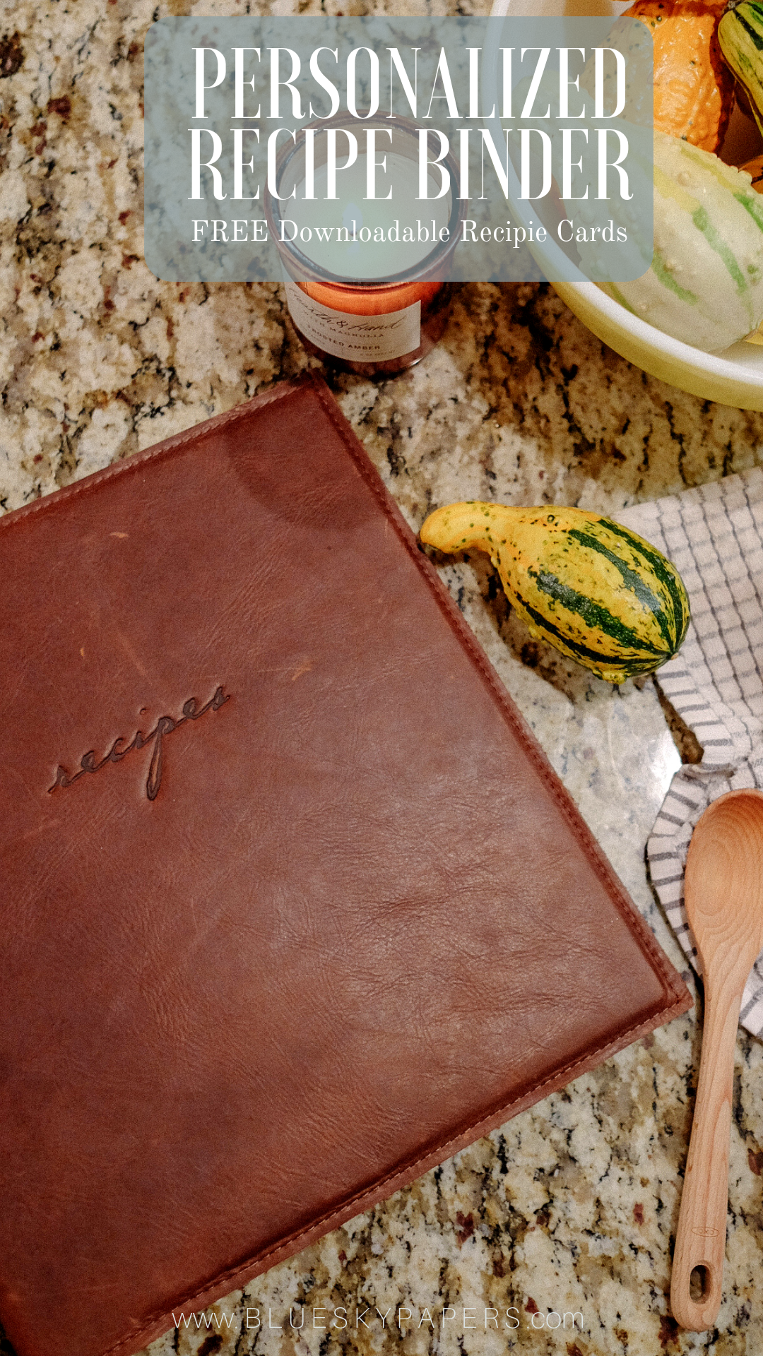 personalized recipe binder with free downloadable recipe cards the