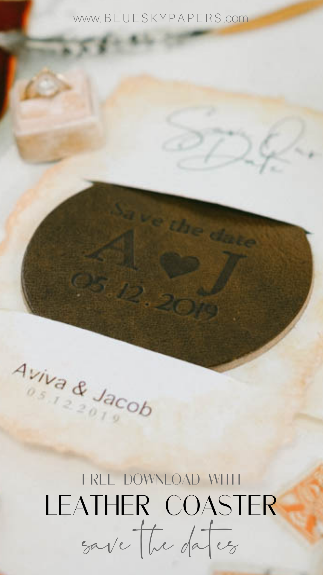 Leather Coaster Save The Dates Diy