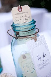 Tip Jar for the wedding guest book table