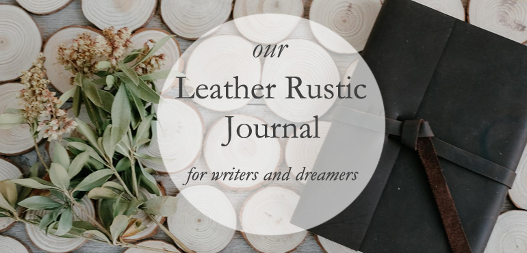Rustic Leather Journal - by Blue Sky Papers