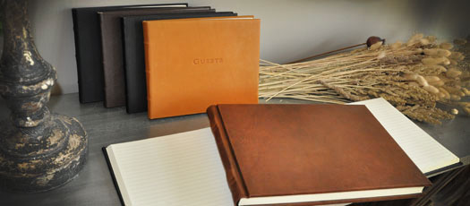 Leather Guest Books By Blue Sky Papers