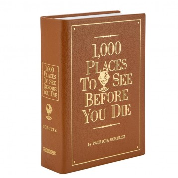 1000 Places to See Before You Die, Leather-Bound Edition - thick book
