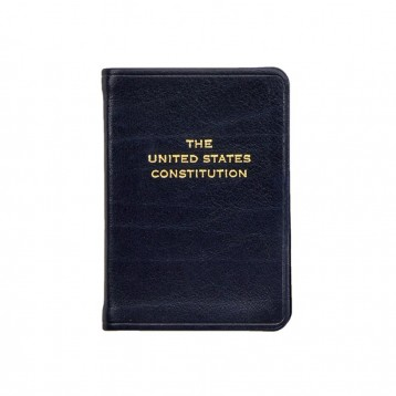 Mini United States Constitution Book - Navy leather - from Blue Sky Papers