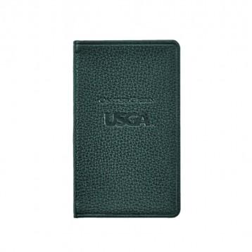 Leather USGA Scorebook - Full grain, dark green leather - from Blue Sky Papers