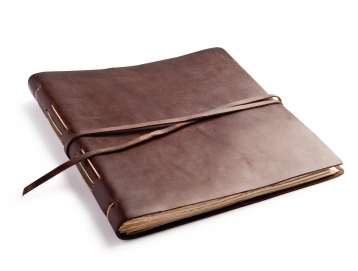 "Rustic Leather Album - ""Big Idea"" - Burgundy"