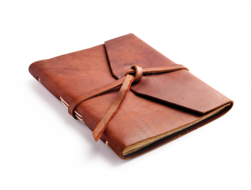 "Rustic Leather Journal - ""The Observer"" - Saddle"