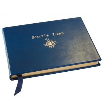 Blue Ship Log - Blue Leather Ships Log