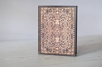 Vintage Leather Journal - Gold Foil Design