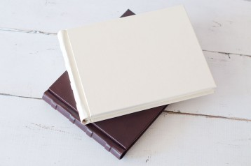 Italian Leather Hardcover Guest Book- from Blue Sky Papers