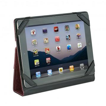 Leather iPad Case - Burgundy Python