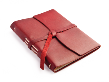 "Rustic Leather Writing Journal  - ""The Parley"" -  Burgundy"