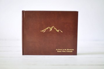 Leather Cabin Guest Book - Mountain House Guest Book