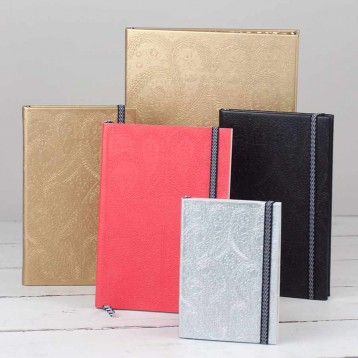 Christian Lacroix Notebook - available in a variety of sizes in gold, black, red, and silver