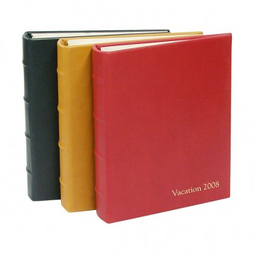 Large Leather Guest Books - Personalized with embossing