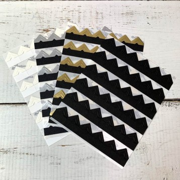Colored Photo Corners - ivory, silver, gold and black - from Blue Sky Papers